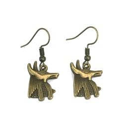 Örhängen Anubis Egyptisk Mytologi Schakal Brons Brons