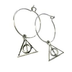 Örhängen Creoler Dödsrelikerna Deathly Hallows Harry Potter Silver 2cm/mini/hallow
