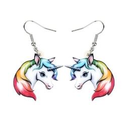 Örhängen Enhörning Unicorn Sagoväsen Regnbåge Fantasy  MultiColor