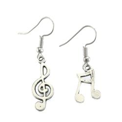 Örhängen Musik Not G-klav Music Asymmetriska Silver