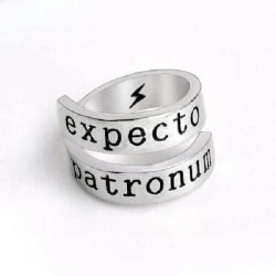 Ring EXPECTO PATRONUM Harry Potter Trollformel Hogwarts Silver