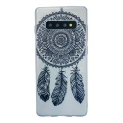 Samsung Galaxy S10 Drömfångare Svart Mandala Spets Lace Svart