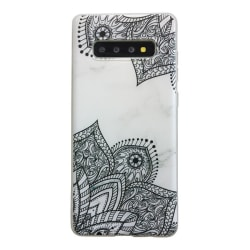 Samsung Galaxy S10 PLUS Marmor Spets Lace Henna Marble Blå