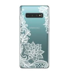 Samsung Galaxy S10 PLUS Spets Mandala Lace Vit Henna Vit