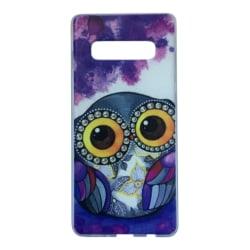 Samsung Galaxy S10 Uggla Lila Owl Djur Lila