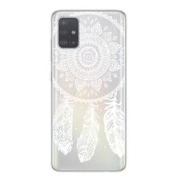 Samsung Galaxy S20 Drömfångare Spets Henna Mandala Vit Lace Vit