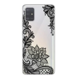 Samsung Galaxy S20 PLUS Spets Henna Lace Svart Mandala Blomma Svart