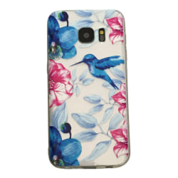 Samsung Galaxy S6 EDGE Kolibri och blommor Fågel - Henna multifärg