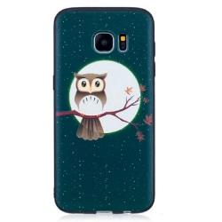 Samsung Galaxy S7 Uggla och måne Owl Moon Grön