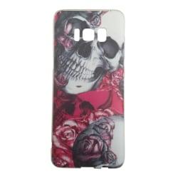 Samsung Galaxy S8 PLUS Dödskalle Rosor Skull Retro multifärg