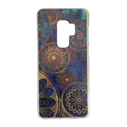 Samsung Galaxy S9 PLUS Mandala Blå/Brun Cirklar Mönster Blommor Blå