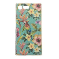 Sony Xperia X COMPACT Papegoja Blommor Blad leaf Tropisk multifärg