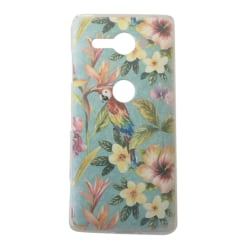 Sony Xperia XZ2 Compact Papegoja Blommor Blad leaf Tropisk multifärg