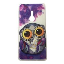 Sony Xperia XZ2 Uggla Lila/vit Owl Djur Lila