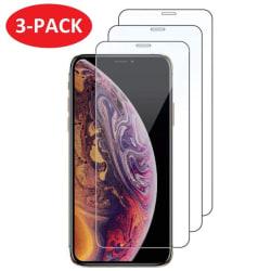 3-Pack - iPhone X / Xs - Extra Stark Härdat Glas Skärmskydd iPhone X/Xs