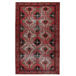 Handknuten Original Persisk Vintagematta Beluch 117x194cm Röd