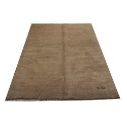 Handknuten Persisk matta Gabbeh Shiraz Ull Creme 173x250cm Brun