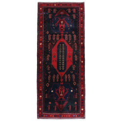 Handknuten Persisk Matta Kurdistan 132x279cm Röd