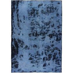 Handknuten Persisk Vintagematta Blå/Mörkblå 164x233cm Blå