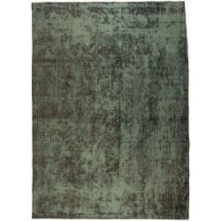 Handknuten Persisk Vintagematta Grön 200x282cm Grön