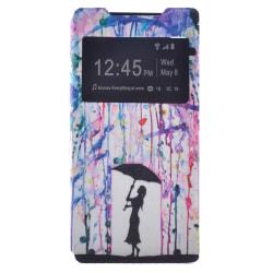 Fönsterfodral, Flicka som håller i ett paraply - Xperia Z5 Premi