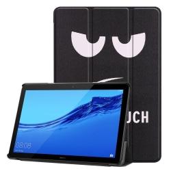 Angry Face Tri-Fold PU Fodral till Huawei MediaPad T5 10