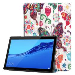 Colorful Butterfly Tri-Fold Fodral Huawei MediaPad T5 10