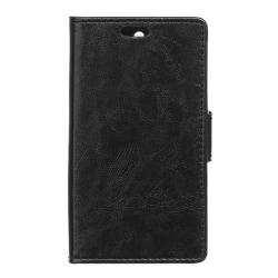Crazy Horse plånboksfodral för Galaxy J5 (2016) - svart