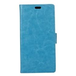 Crazy Horse plånboksfodral för Samsung Xcover 4 - blå