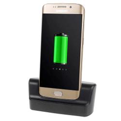 Dockningsstation till Samsung Galaxy S6/S6 Edge, Svart