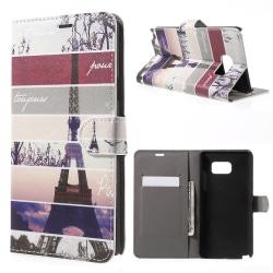 Eiffeltornet med ränder - Plånboksfodral till Galaxy Note 5