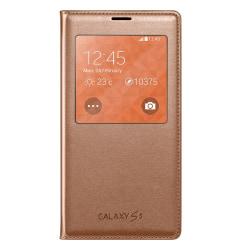 Fönsterfodral till Samsung Galaxy S5 - Rosé guld