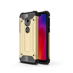 Heavy Duty Rugged Skal till Motorola G7 Play - Guld