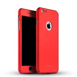 IPAKY skal + skärmskydd för iPhone 6/6S Plus - röd