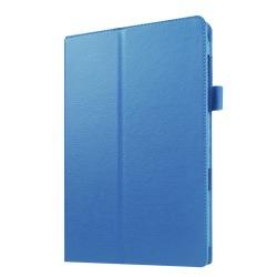 Litchi fodral för Samsung Galaxy Tab E 9.6 - baby-blå