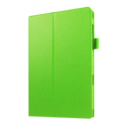 Litchi fodral för Samsung Galaxy Tab E 9.6 - grön