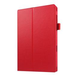 Litchi fodral för Samsung Galaxy Tab E 9.6 - röd