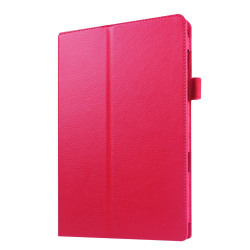 Litchi fodral för Samsung Galaxy Tab E 9.6 - rosé
