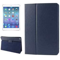 Litchi Läderfodral för iPad Air - Mörkblå