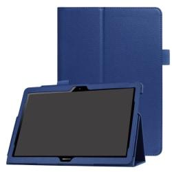 Litchi läderfodral till Huawei MediaPad T3 10 - Mörkblå