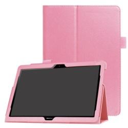Litchi läderfodral till Huawei MediaPad T3 10 - Rosa