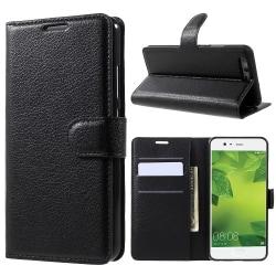 Litchi plånboksfodral för Huawei P10 - svart