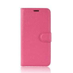 Litchi Plånboksfodral för Motorola One Vision - Rosa