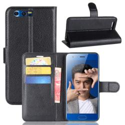 Litchi plånboksfodral till Huawei Honor 9 - Svart