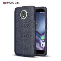 Litchi skal till Motorla Moto G5S - Mörkblå