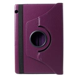 Litchi Skin Fodral till Huawei MediaPad T5 10 - Lila