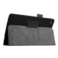 Litchi Smart Cover Stand för iPad Mini 4 - Svart