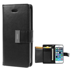 Mercury Rich läderfodral till iPhone 5/5S, Svart