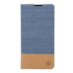 Plånboksfodral i linne till Xperia Z5, Ljusblå
