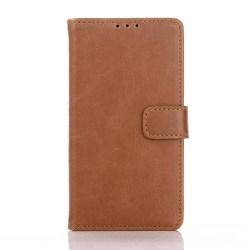 Plånboksfodral med två kortplatser, Xperia Z5 Compact, Ljusbrun
